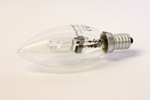 18Watt SES Clear Halogen Candle Bulb
