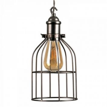 Steampunk Fenwick Electrical Pendant Basket Shade Aged Nickel