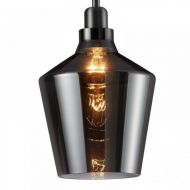 Calais Smoked Glass ES E27 Pendant Light