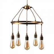 Robinson Cartwheel 5 Way Brass Ceiling Light