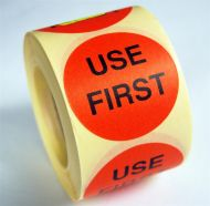 Use First Labels - (50mm) Peelable Adhesive