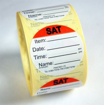 Combo Day Dots / Prep Labels - use by Saturday