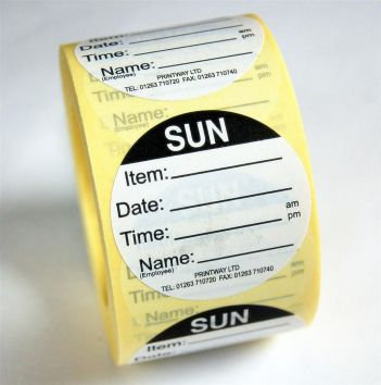 Combo Day Dots / Prep Labels - use by Sunday