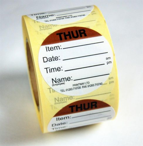 Combo Day Dots / Prep Labels - use by Thursday