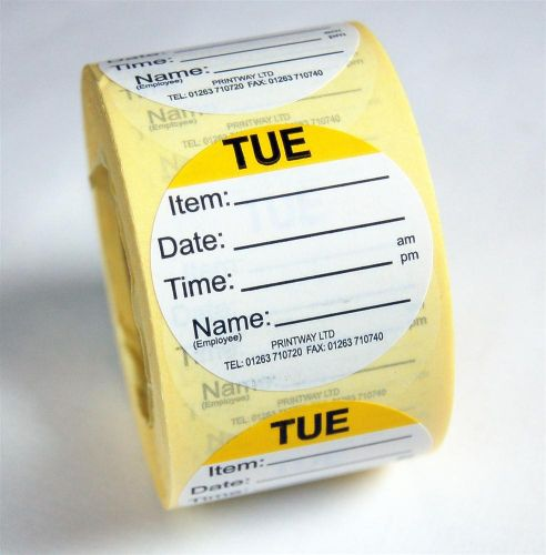 Combo Day Dots / Prep Labels - use by Tuesday