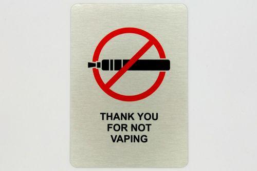 """Generic Aluminium """"No Vaping"""" Sign (100x140mm)"""