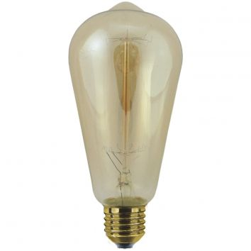 Antique Classic Deco Rustika 40W ES Gold Tint
