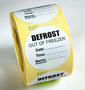 Defrost Label