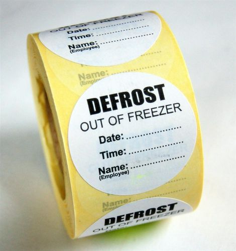 Defrost Label - PERMANENT Adhesive