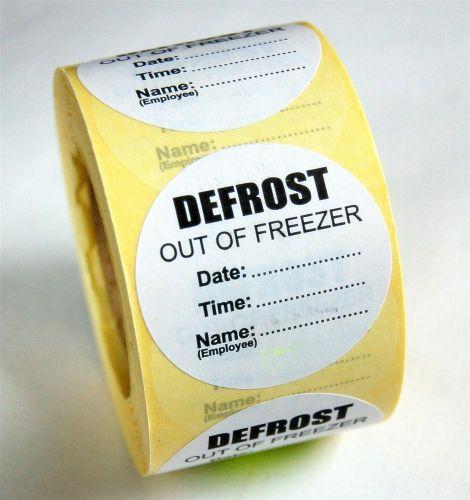 Defrost Label