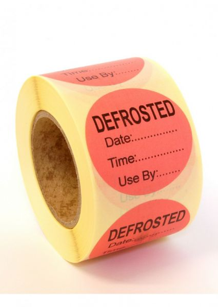 Defrost Label - PEELABLE Adhesive