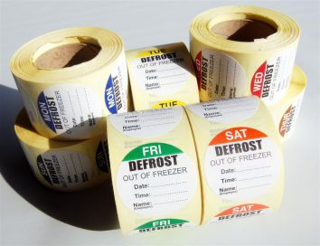 Defrost Labels - 7 Day Pack