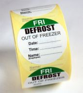 Defrost Labels - Friday