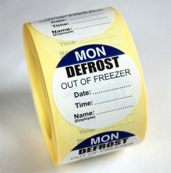 Defrost Labels - Monday