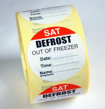 Defrost Labels - Saturday