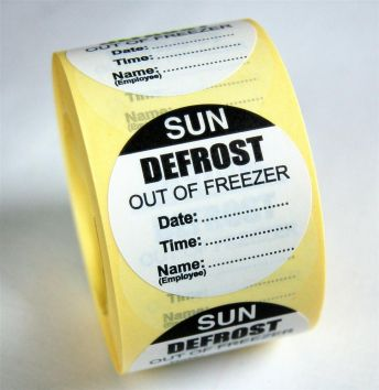 Defrost Labels - Sunday