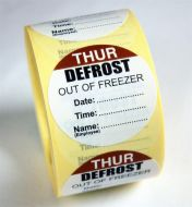 Defrost Labels - Thursday