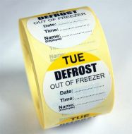 Defrost Labels - Tuesday