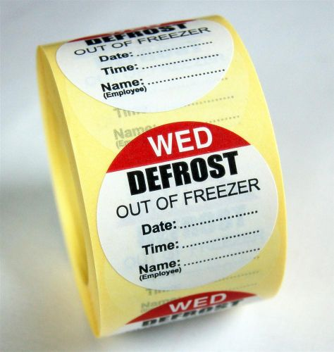 Defrost Labels - Wednesday