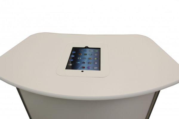 Flush desk mounted iPad Unit