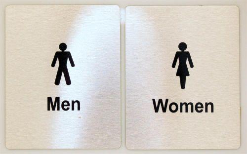 Generic Aluminium Men & Women's Toilet Sign Set (80 x 100mm)