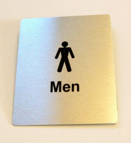 Generic Aluminium Men's Toilet Sign (80 x 100mm)