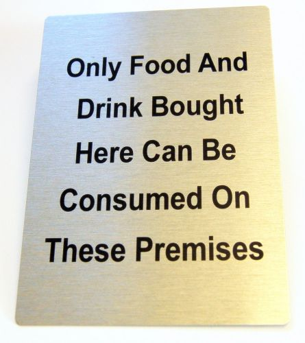 Generic Aluminium Only Food Bought Sign (100x140mm)