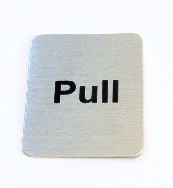 Generic Aluminium Pull Sign (40 x 50mm)