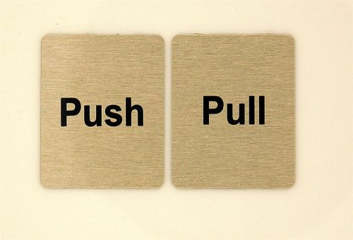 Generic Aluminium Push & Pull Sign Set (40 x 50mm)