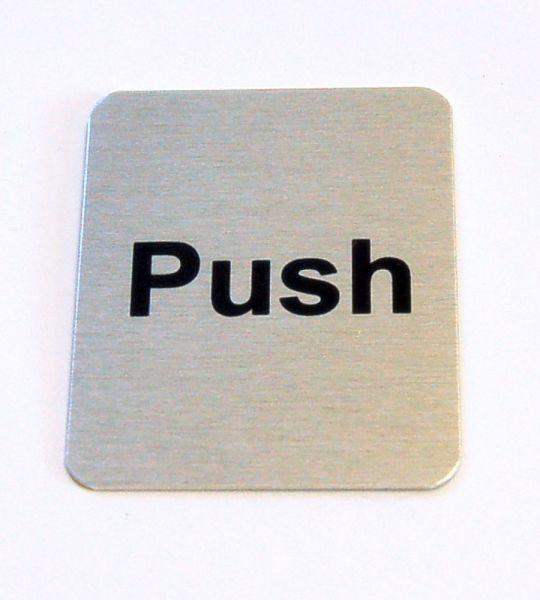 Generic Aluminium Push Sign (40 x 50mm)