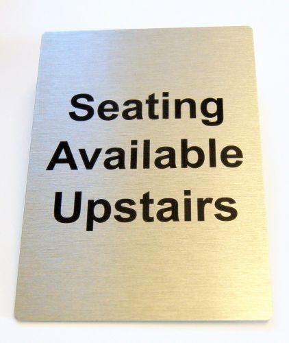 Generic Aluminium Seating Upstairs Sign (100x140mm)