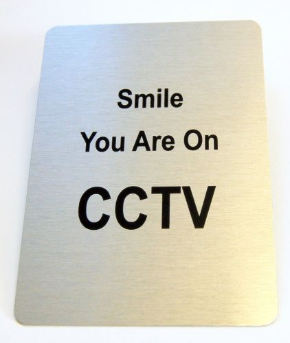Generic Aluminium Smile You Are On CCTV Sign (100x140mm)