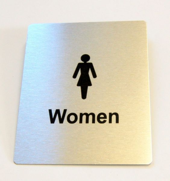 Generic Aluminium Women's Toilet Sign (80 x 100mm)