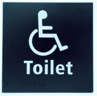 Generic Braille Disabled Toilet Sign (150 x 150mm)