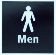 Generic Braille Mens Toilet Sign (150 x 150mm)