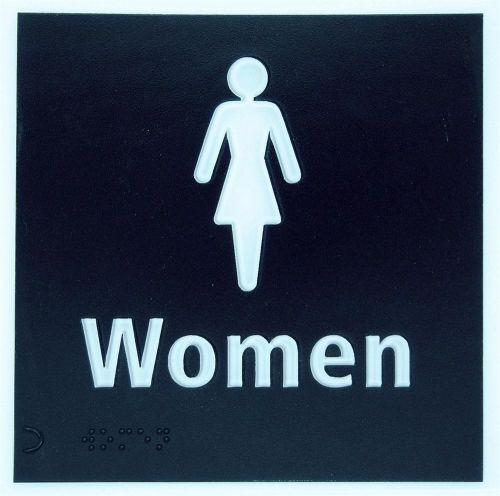 Generic Braille Womens Toilet Sign (150 x 150mm)