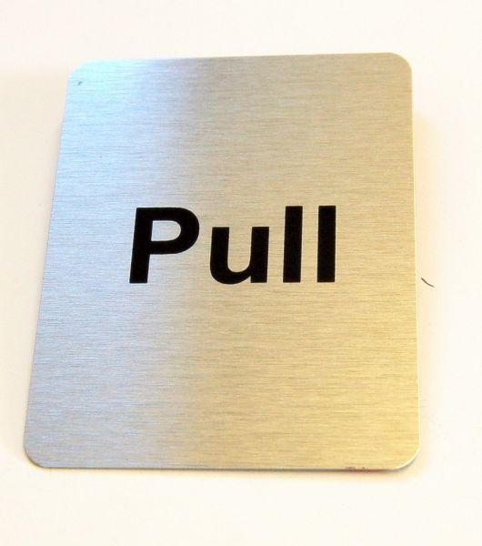 Generic Aluminium Pull Sign Large (80 x 100mm)