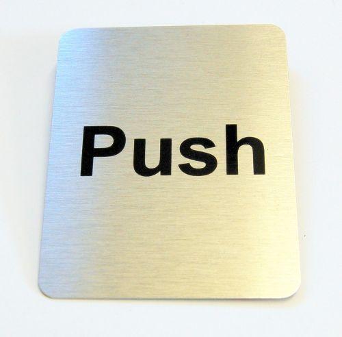 Generic Aluminium Push Sign Large (80 x 100mm)