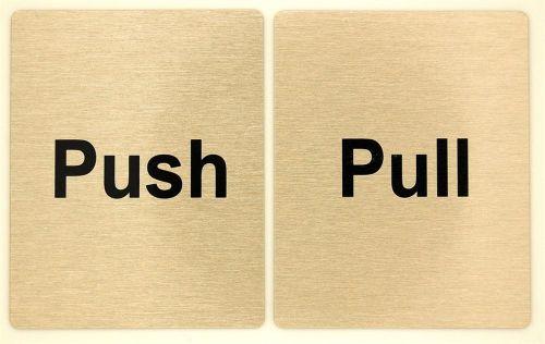 Large Push & Pull Door Signs (80 x 100)