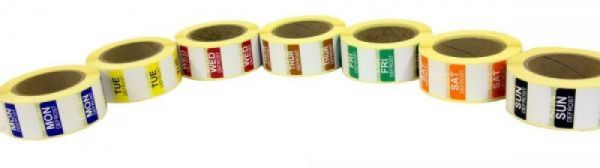 Mini Defrost Labels - PERMANENT Adhesive