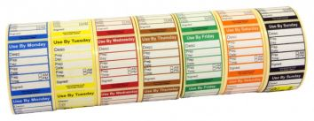 Midi Food Preparation Label 7 Day Set