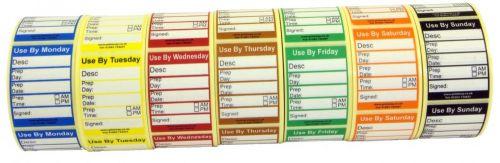 Peelable Midi Food Preparation Label 7 Day Set