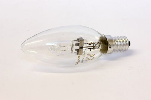 Luxina 28W SES Clear Halogen Candle Bulb