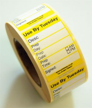Midi Food Preparation Label - Tuesday