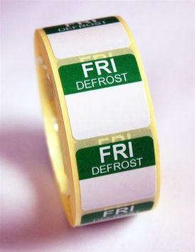 Mini Defrost Labels - Friday
