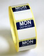 Mini Defrost Labels - Monday