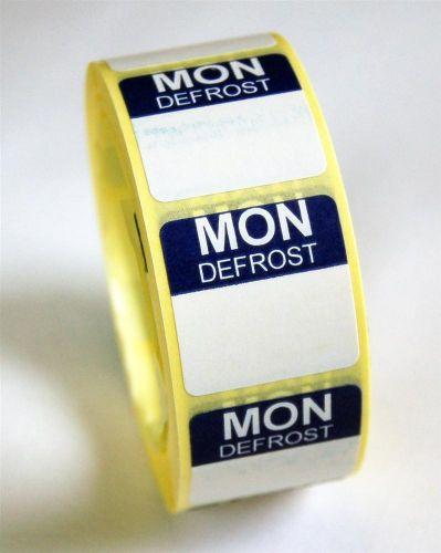 Mini Defrost Labels - Monday