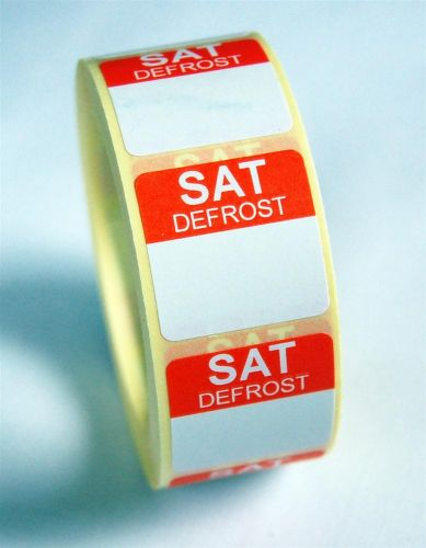 Mini Defrost Labels - Saturday
