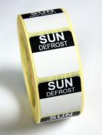Mini Defrost Labels - Sunday
