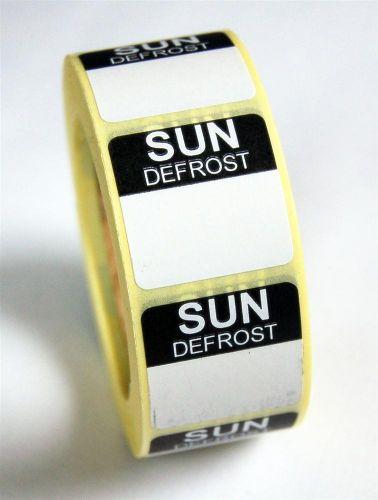 Mini Defrost Labels - Sunday